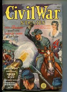 CIVIL WAR STORIES-#1-SPG 1940-PULP-CAPT SABRE-SOUTHERN STATES PEDIGREE-vf