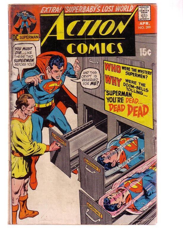 ACTION COMICS #399 1971-SUPERMAN-DC COMICS-NEAL ADAMS FR