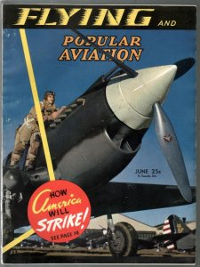 Popular Aviation 6/1941-Curtiss P-40 fighter cover-war issue-pulp thrills-VG/FN
