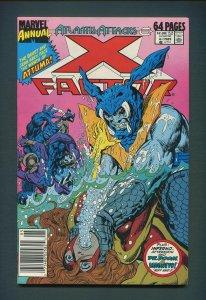 X-Factor Annual #4  /  9.0 VFN/NM  - 9.2 NM- /  Newsstand / 1989