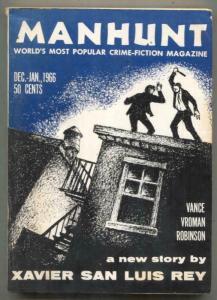 Manhunt Pulp December 1966- Xavier San Luis FN