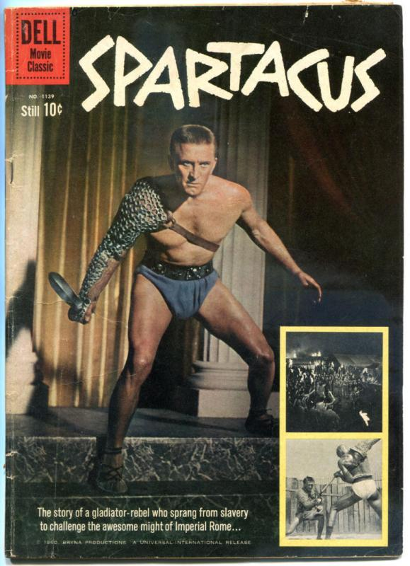 SPARTACUS #1139, VG/FN, Dell, 1960, Movie Classic, Kirk Douglas,more TV in store
