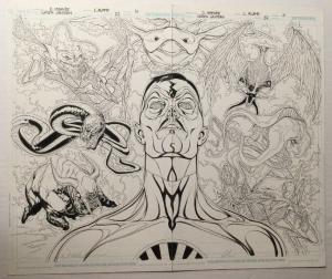 Doug Mahnke Original Art P.10 11 Green Lantern 52 Full Splash 1St Ap Of Entities
