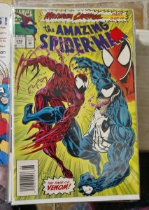 Amazing Spider-Man # 378 1993 marvel MAXIMUM CARNAGE pt 3 venom eddie brock