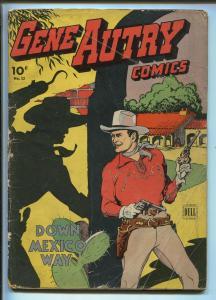 GENE AUTRY #12 1944-DELL-TILL GOODAN ART-DOWN MEXICO-fr/good
