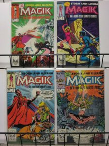 MAGIK (1983) 1-4 Mutants, Magic, mayhem, STORM, Ilyana