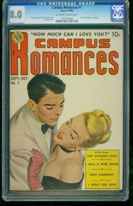 Campus Romances #1-CGC 8.0 Highest Graded-Southern States 1197194006