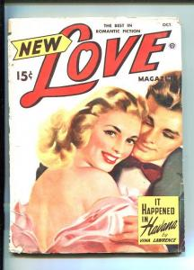 NEW LOVE-OCT 1949-ROMANTIC PULP FICTION- PIN-UP GIRL COVER-CUBA-LAWRENCE-good/vg