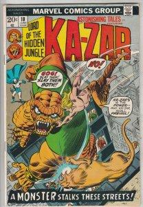 Astonishing Tales #18 (Jun-73) VF/NM High-Grade Ka-Zar, Zabu