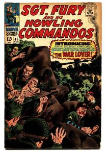 SGT. FURY AND HIS HOWLING COMMANDOS #45-SEVERIN ART  VG