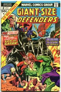 Giant-Size Defenders #2 1974-Son of Satan- Dr Strange- Sub-Mariner