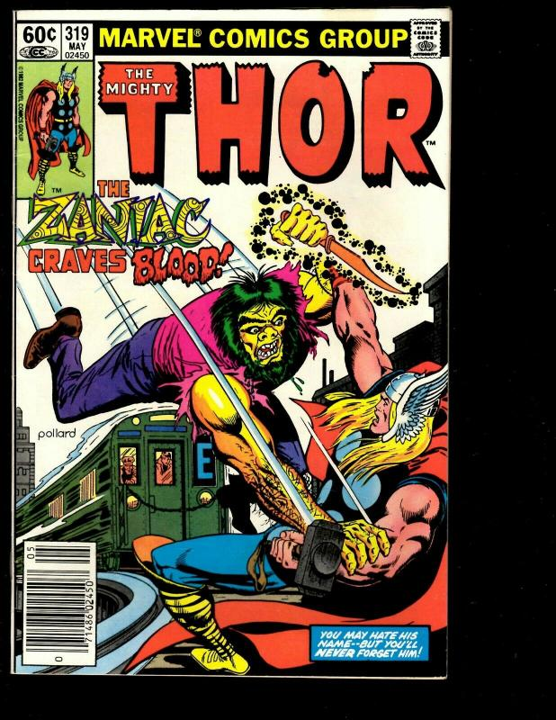 10 Thor Marvel Comics # 318 319 320 321 322 323 324 325 326 327 Spider-Man DS3