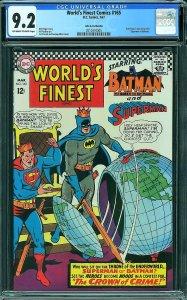 World's Finest #165 (DC, 1967) CGC 9.2 - John G. Fantucchio Pedigree
