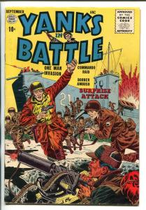 YANKS IN BATTLE #1 1956-QUALITY-1ST ISSUE-COMMIES-fn/vf