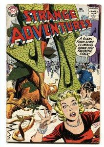 STRANGE ADVENTURES #101 1959 DC COMICS Monster cover VG