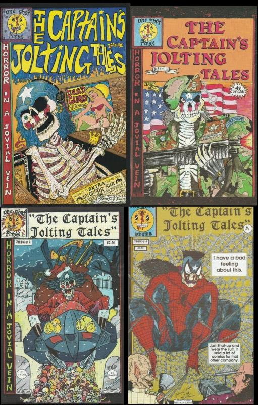 The Captain's Jolting Tales - Set of Four Comics - ONE SHOT PRESS