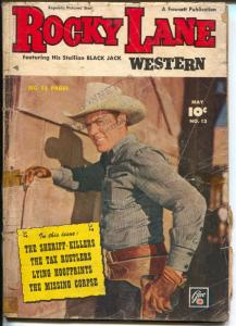 Rocky Lane Western #13 1950-Fawcett-photo cover-Black Jack-G/VG