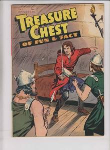 Treasure Chest of Fun & Fact vol. 4 #1 VG september 7, 1948 - catholic comic