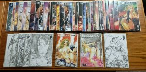 Hellina / Ravening 1-2 Complete NUDE Variant Set Run! 41 issues 1/50's ~ NM