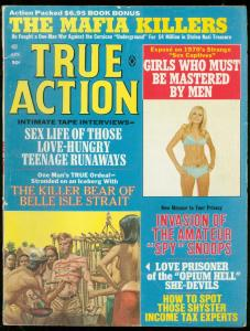 TRUE ACTION APRIL 1970-MAFIA KILLERS-TEENAGE RUNAWAYS FN