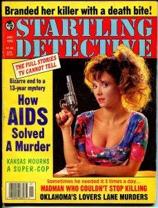 Startling Detective 1/1982-Globe-spicy gun moll-AIDS solvers murder-VG