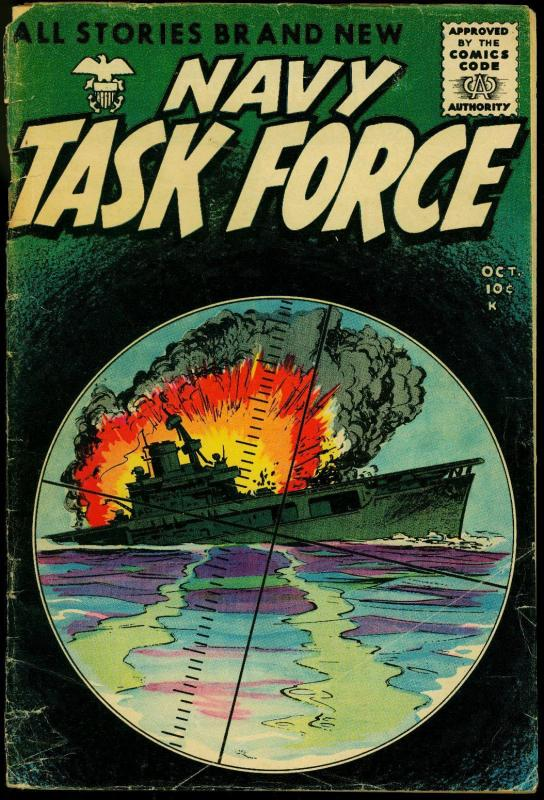 Navy Task Force #6 1955- WWII stories- Periscope cover G-