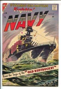 Fightin' Navy #80 1957-Charlton-WWII stories-explosive art-VF-