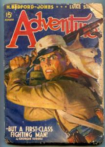 Adventure Pulp August 1940- Surdez Foreign Legion fair
