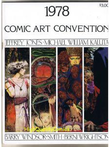 COMIC ART CONVENTION 1978, VF+, Barry Smith, Bernie Wrightson, Jeff Jones, HTF