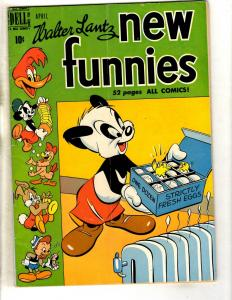 New Funnies #158 FN- Walter Lantz Dell Golden Age Comic Book Woody Woodpeck JL11