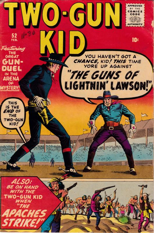 Two Gun Kid Lightnin Lawson 1960