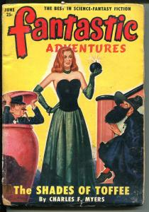FANTASTIC ADVENTURES 6/1950-ZIFF-DAVIS-PULP SCI-FI-JONES COVER-MYERS-RAY-fr