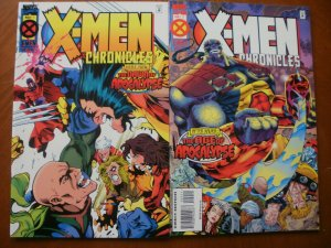 2 Near-Mint Marvel Deluxe X-MEN CHRONICLES Comic #1 #2 (1995) Apocalypse