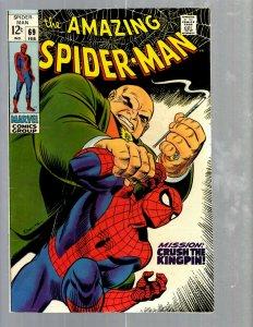 Amazing Spider-Man # 69 VF Marvel Comic Book MJ Vulture Goblin Scorpion TJ1