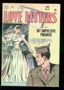 LOVE LETTERS #31 1953-BRIDE COVR-BIL WARD-OGDEN WHITNEY VG