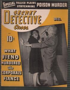 Secret Detective Cases12/1942-stabbing-poison-bloody horror-pulp crime-gun-VF