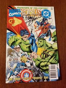 DC VERSUS MARVEL #3 NM/M- Dan Jurgens & Ron Marz Signature!!!!