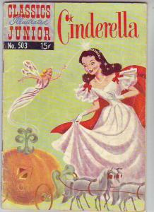 Classics Illustrated Junior #503 (Oct-53) VG Affordable-Grade Cinderella