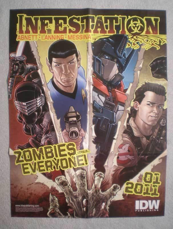 INFESTATION Promo Poster, Star Trek, Zombies, Unused, more in our store
