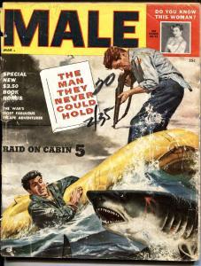 Male 3/1955 -Atlas-Shark attack-Anita Ekberg-Archie Moore