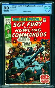 Sgt. Fury and his Howling Commandos Annual #6 CBCS VF/NM 9.0 Off White to White