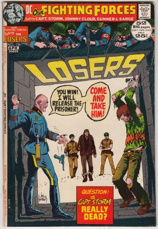 Our Fighting Forces #136 (Apr-72) FN+ Mid-Grade The Loosers