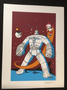 THE BIG GUY AND RUSTY THE BOY ROBOT Print Signed by Geof Darrow, 1995
