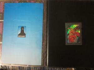 Defiant #0 PLASM Binder (w/ 140 cards + full-page sheets) & SPLATTERBALL