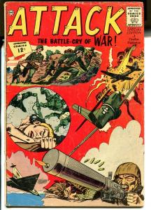 Attack#1 1962-Charlton-1st issue-special edition-WWII-jungle war-VG