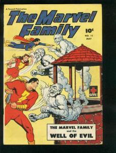 MARVEL FAMILY #11 1947-CAPTAIN MARVEL-UNCLE MARVEL-FAWCETT-very good VG