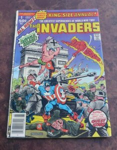 Invaders King Size Annual #1 FN- Marvel Comic Book Vision Black Panther App.