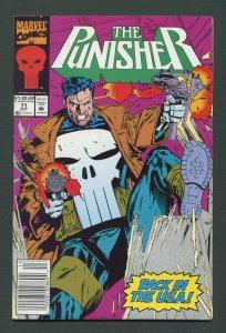 Punisher #71  / 8.0 VFN / Newsstand /  October 1992