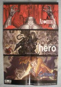 SPEAKEASY COMICS Promo Poster, 12x18, 2005, Unused, more Promos in store