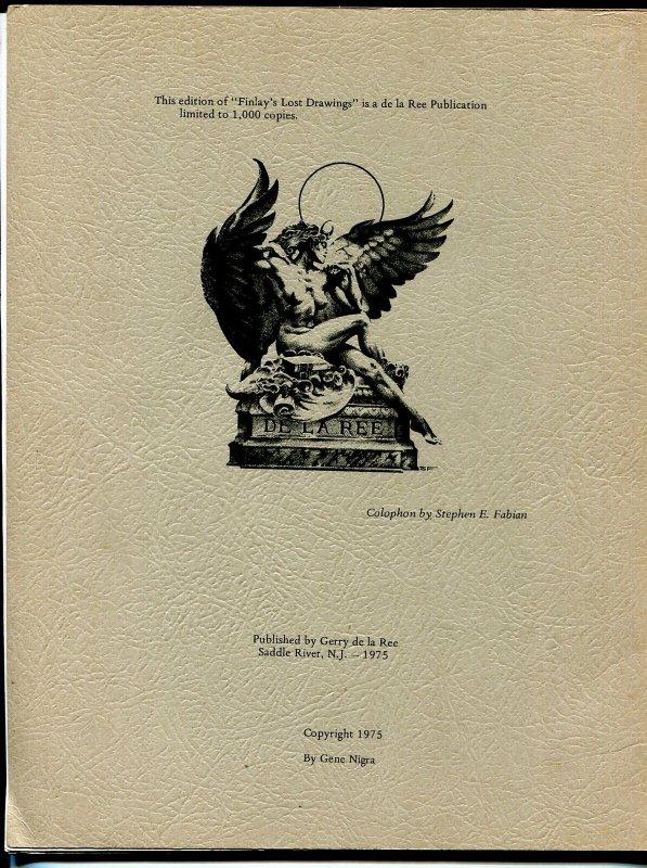 Finlay's Lost Drawings  1970's-Virgil Finlay portfolio-8 prints-8 1/2 X 11